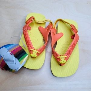 Havaianas baby pets sling back sandals US 6.5